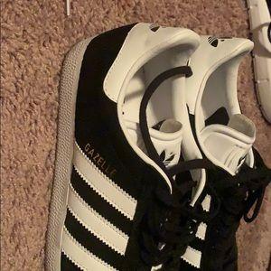 adidas Shoes - Adidas Black with white Stripes